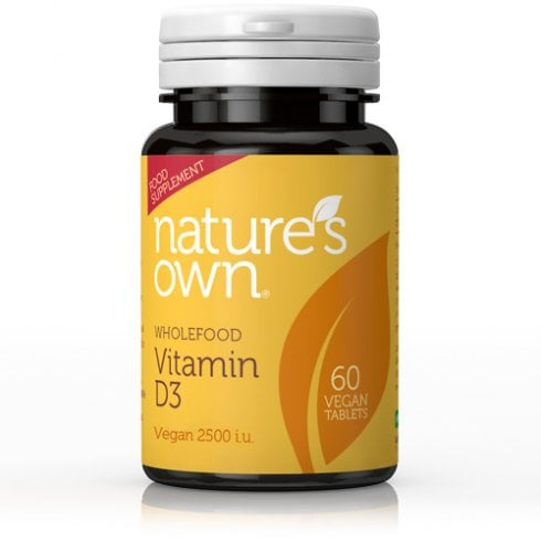 Nature's Own Wholefood Vitamin D3 Vegan 60's