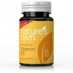 Wholefood Vitamin D3 Vegan 60's