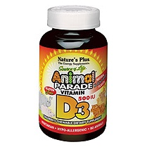 Animal Parade Vitamin D3 500iu 90's - Chewables - Natural Black Cherry Flavour