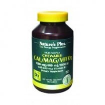 Cal/Mag/Vit D3 with Vitamin K2 Chewables 60's - Vanilla Flavour - 1200mg/600mg/1000iu/100mcg