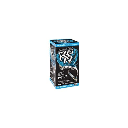 Nature's Plus Power Teen for Him 60's - Chewable - Wild Berry Flavour