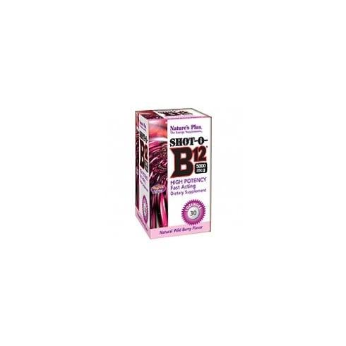 Nature's Plus Shot-O-B12 5000mcg Lozenges 30's - Wild Berry Flavour