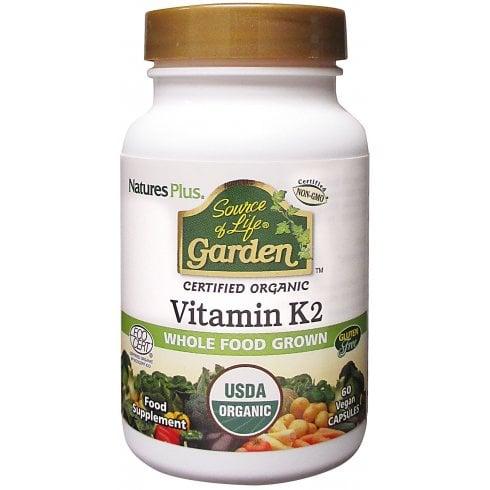 Nature's Plus Source of Life Garden Certified Organic Vitamin K2 60's