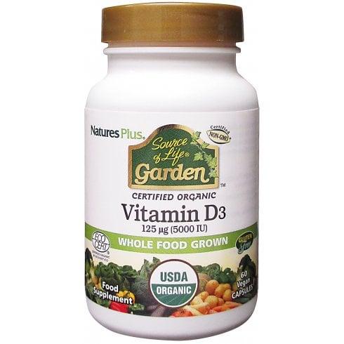 Nature's Plus Source of Life Garden Vitamin D3 5000iu 60's