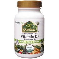 Nature's Plus Source of Life Garden Vitamin D3 5000iu 60's