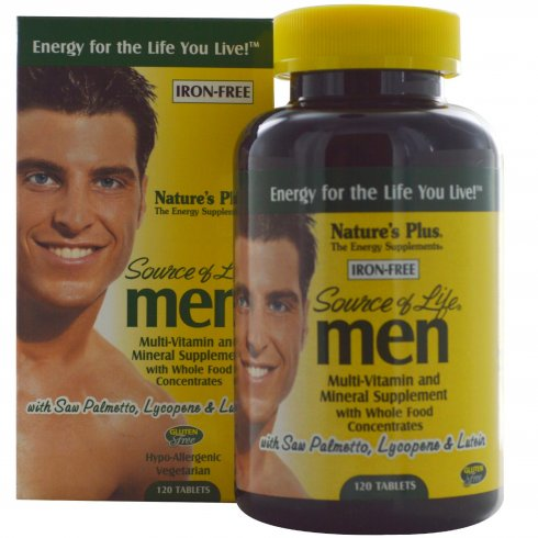 Nature's Plus Source of Life Men - Iron Free 120's