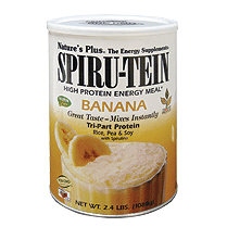 SPIRU-TEIN Unsweetened Simply Natural Banana 370g