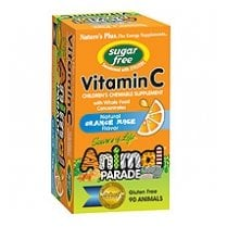 Sugar Free Animal Parade VITAMIN C Chewable 90's - Orange Flavour