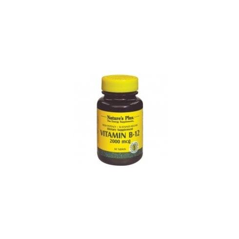 Nature's Plus Vitamin B-12 2000mcg Sustained Release 60's