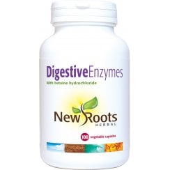 Digestive Enzymes with Betaine Hydrochloride - 100 Capsules
