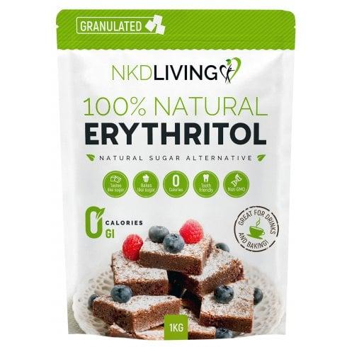 NKD LIVING Erythritol Natural Sugar Alternative Granulated 1000g