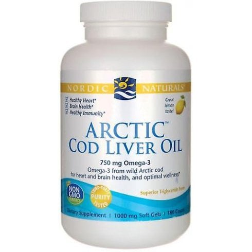Nordicnaturals Arctic Cod Liver Oil - Lemon 90's (CURRENTLY UNAVAILABLE)