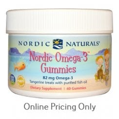 Nordic Omega3 Gummies - Tangerine (Chewable) 60's (CURRENTLY UNAVAILABLE)