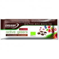 Organic Food Bar Active Greens Chocolate Covered + Protein 12 x 68g bars