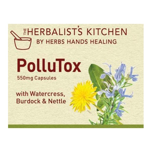 Herbalist's Kitchen by Herbs Hands Healing PolluTox 550mg 150 caps