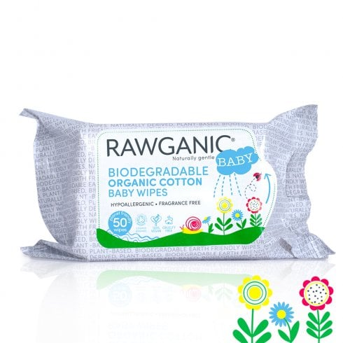 RAWGANIC Organic Cotton Baby Wipes 50s (Currently Unavailable)