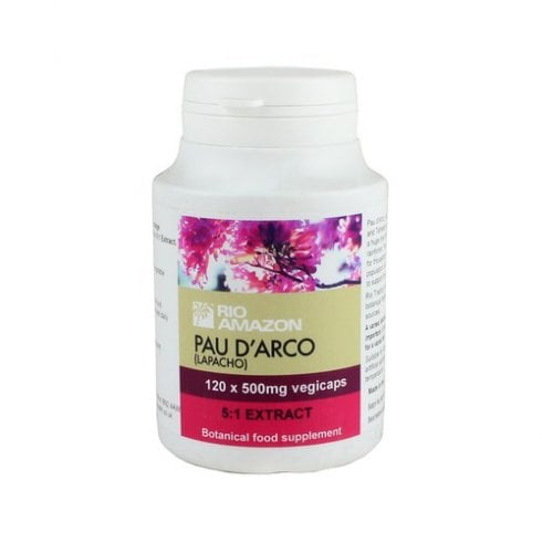 Rio Amazon Pau d'Arco (Lapacho) 500mg 5:1 extract vegicaps 120's