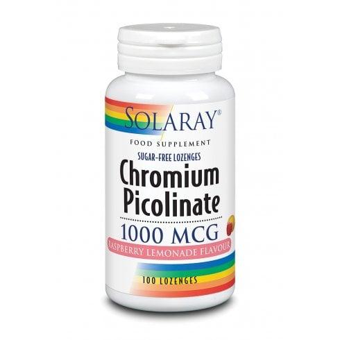 Solaray Chromium Picolinate Lozenge 1000mcg 100's