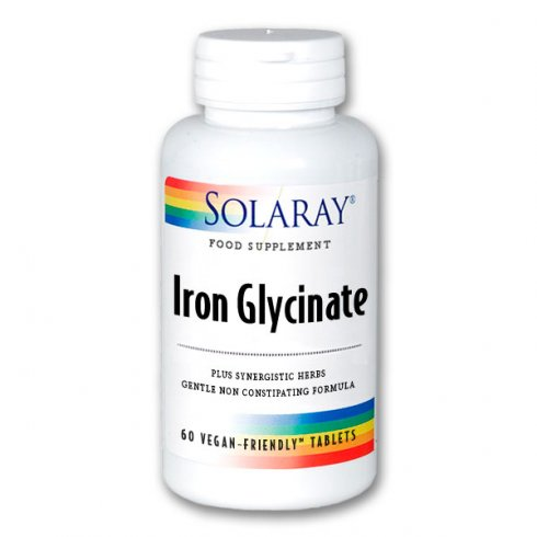 Solaray Iron Glycinate 25mg 60's