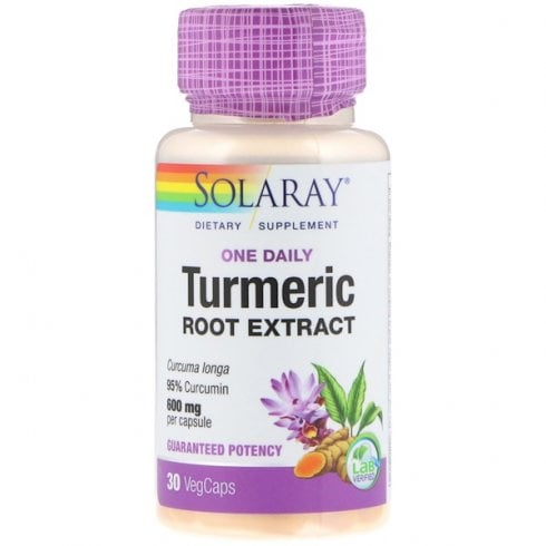 Solaray Turmeric One Daily 600mg 30's