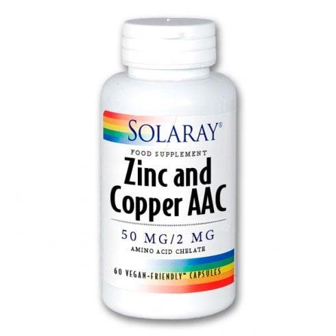 Solaray Zinc and Copper AAC 60's