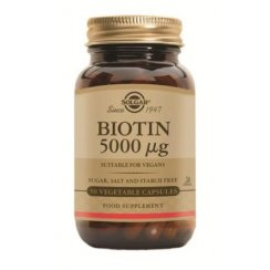 Biotin 5000ug 50 vegetable capsules