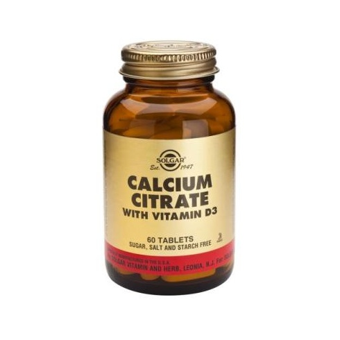 Solgar Calcium Citrate with Vitamin D 60 tabs