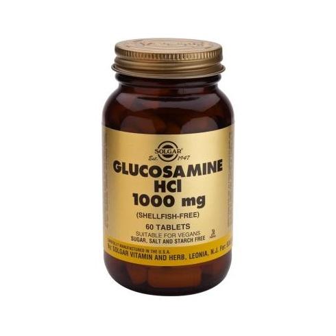 Solgar Glucosamine Hydrochloride (Shellfish Free) 1000mg 60's