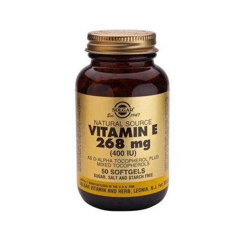 Solgar Vitamin E 268mg (400iu) 50 softgels