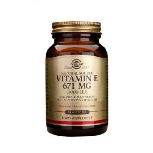 Solgar Vitamin E 671mg (1000iu) 100's (softgels)