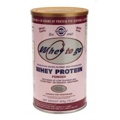Solgar Whey To Go Protein Powder (Natural Strawberry) (16oz) - 454g