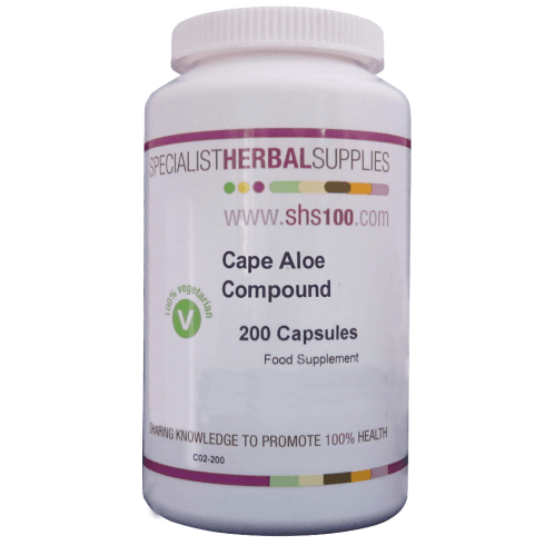 Specialist Herbal Supplies (SHS) Cape Aloe Compound Capsules 200's