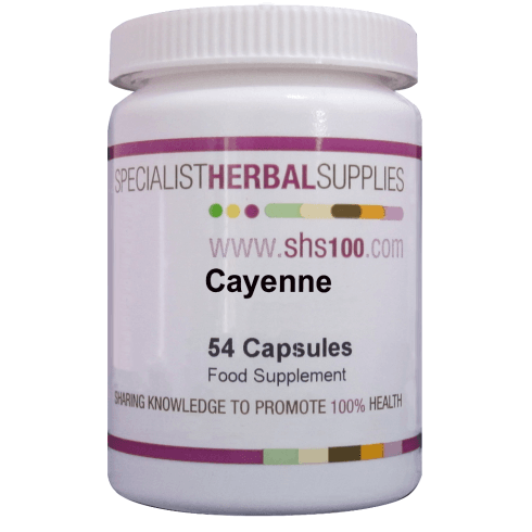 Specialist Herbal Supplies (SHS) Cayenne Capsules 54s