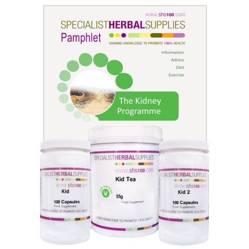 Specialist Herbal Supplies (SHS) Kidney Programme with Capsules 30 day pack