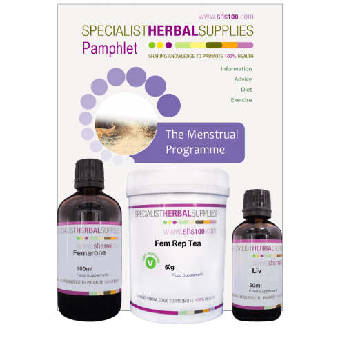 Specialist Herbal Supplies (SHS) Menstrual Programme with Drops 30 day pack