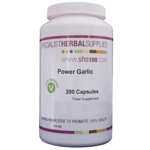 Specialist Herbal Supplies (SHS) Power' Garlic Capsules 200's