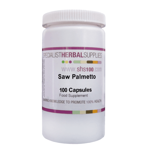 Specialist Herbal Supplies (SHS) Saw Palmetto Capsules 100's