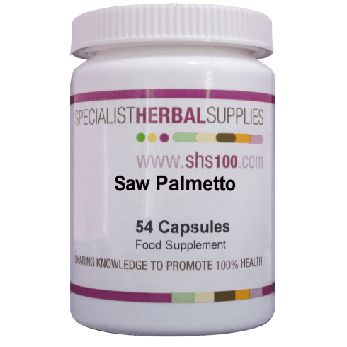 Specialist Herbal Supplies (SHS) Saw Palmetto Capsules 54s