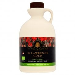 St Lawrence Gold Pure Organic Canadian Maple Syrup Organic Grade A Amber Colour Rich Taste 1 litre