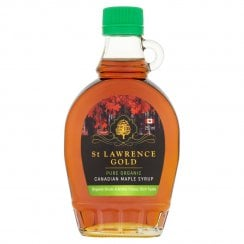 St Lawrence Gold Pure Organic Canadian Maple Syrup Organic Grade A Amber Colour Rich Taste 250ml