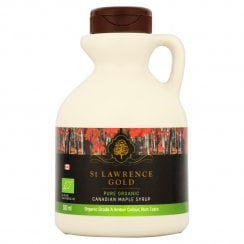 St Lawrence Gold Pure Organic Canadian Maple Syrup Organic Grade A Amber Colour Rich Taste 500ml