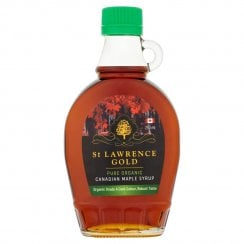St Lawrence Gold Pure Organic Canadian Maple Syrup Organic Grade A Dark Colour Robust Taste 250ml