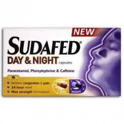 Sudafed Day & Night Capsules Congestion & Pain Relief Capsules - 16 Capsules