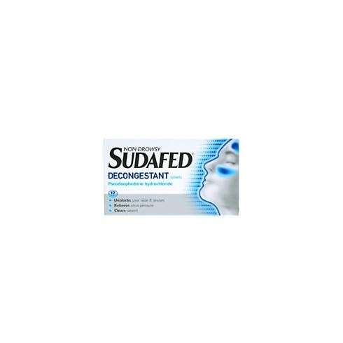 Sudafed Decongestant - Tablets For The Relief Of Stuffy Nasal Congestion Non-Drowsy 12 tablets