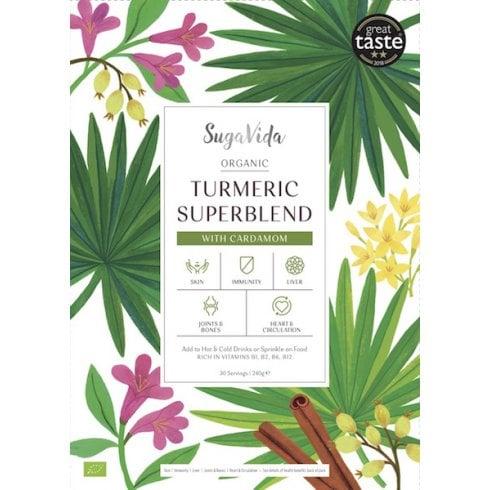 SugaVida Organic Turmeric Superblend Cardamom 240g