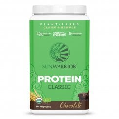 Sunwarrior Classic Chocolate 750g powder (Green Tub) Currently Unavailable