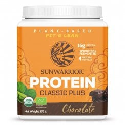 Sunwarrior Classic Plus Chocolate 375g Powder (Orange Tub) Currently Unavailable