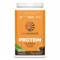 Sunwarrior Classic Plus Chocolate 750g powder (Orange Tub) Currently Unavailable
