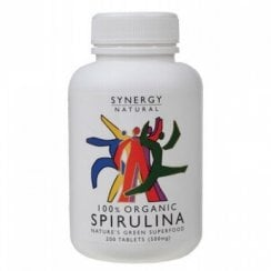 Synergy Natural Organic Spirulina Tablets - 200 Tabs