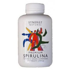 Synergy Natural Premium Spirulina - 500 tabs